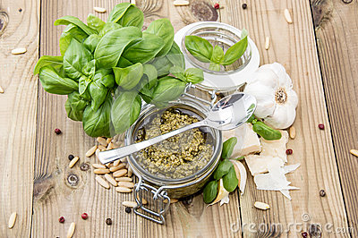 Fresh made Pesto Sauce
