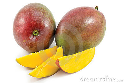 Fresh mango fruit with cut