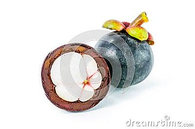 fresh mangosteen, Garcinia mangostana Linn