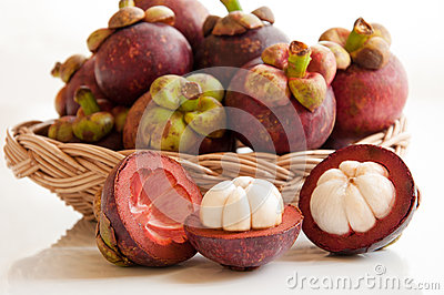 Fresh mangosteens fruit