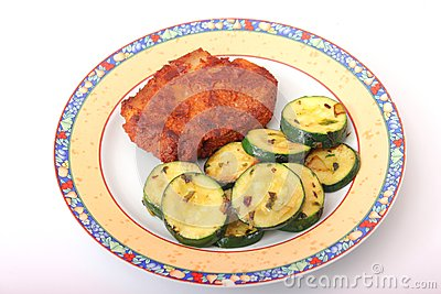 Fresh meat with zucchini