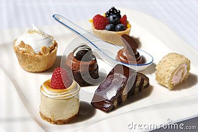 Fresh meringue pie and desserts