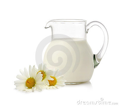 Fresh milk and camomiles