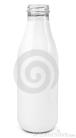 Fresh milk glass bottle