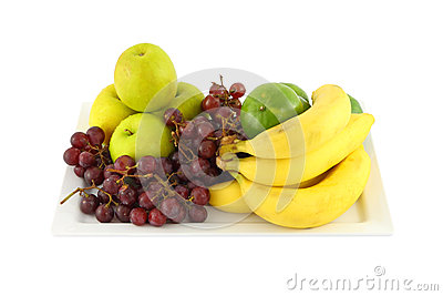 Fresh mixed fruit in plate
