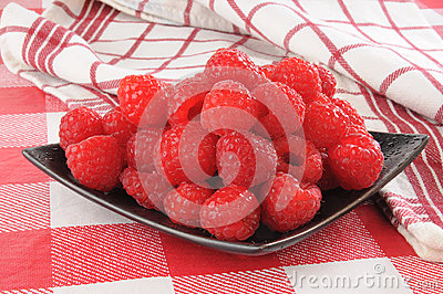 Fresh moist raspberries