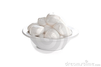 Fresh Mozzarella cheese isolated