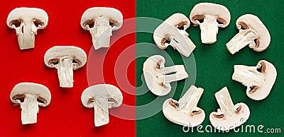 Fresh mushroom slices