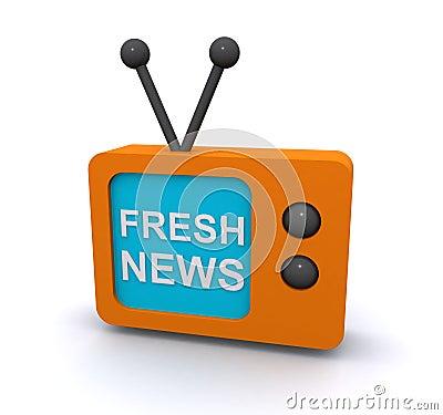 Fresh news on TV screen