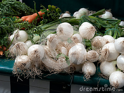 Fresh onion at the farmer s market
