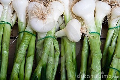 Fresh onions at a market in Paris France