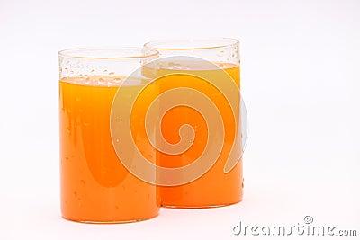 Fresh orange citrus fruit juice