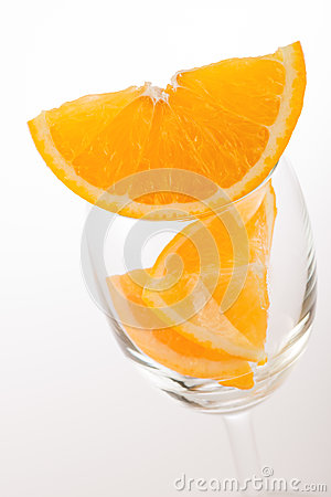 Free Fresh Orange In Glass Stock Photography - 80677862