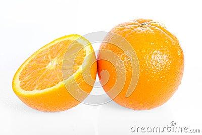 Fresh orange isolated