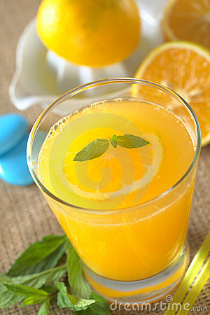 Free Fresh Orange Juice Stock Photography - 19928702