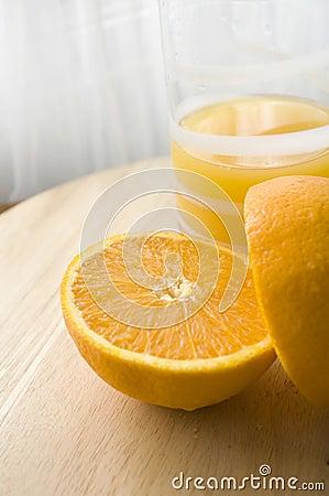 Fresh orange and juicy