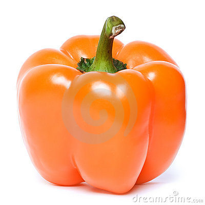 Fresh orange pepper