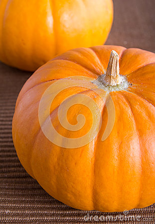 Fresh orange pumpkin