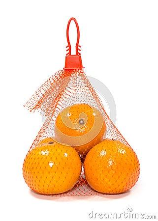 Free Fresh Oranges In Plastic Mesh Sack Royalty Free Stock Photography - 36472867