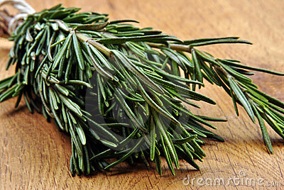 fresh organic rosemary from the garden