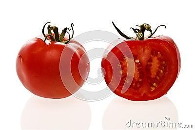 Fresh organic tomatoes.
