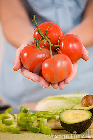 Free Fresh Organic Tomatoes Royalty Free Stock Images - 899579