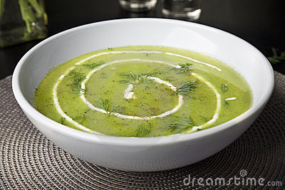 Fresh Pea Soup with Dill