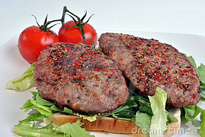 Fresh peppered lamb grill steak