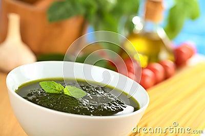 Fresh Pesto Made of Basil