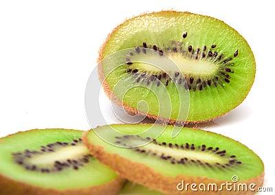 Fresh piece kiwi fruit
