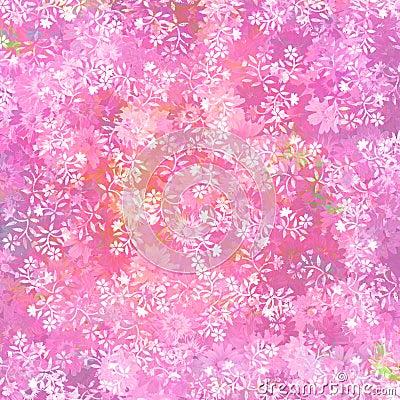 Fresh pink floral background