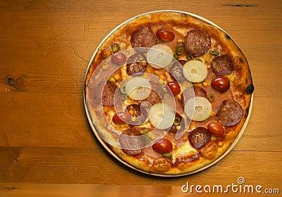 Fresh pizza pie