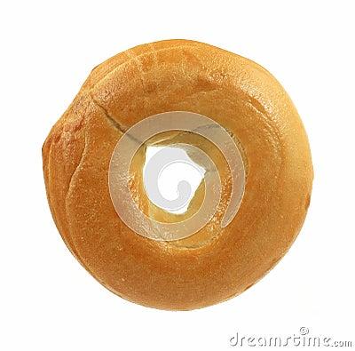 Fresh plain bagel