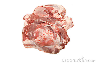 Fresh pork meat scapula