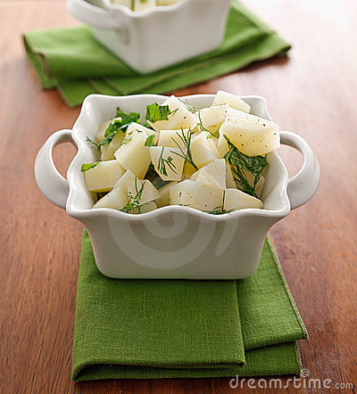 Fresh potato salad with herbs