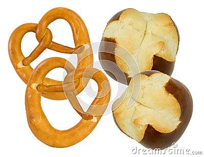 Fresh pretzel and pretzel buns