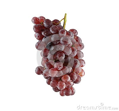Free Fresh Purple Grapes Isolated On White Background. Royalty Free Stock Images - 106186549