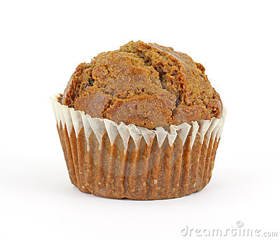Fresh raisin bran muffin