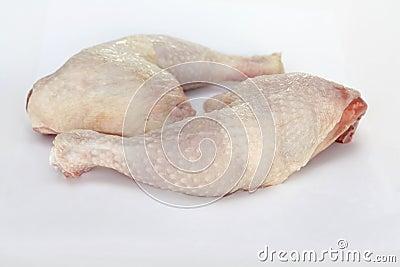 Fresh raw chicken legs
