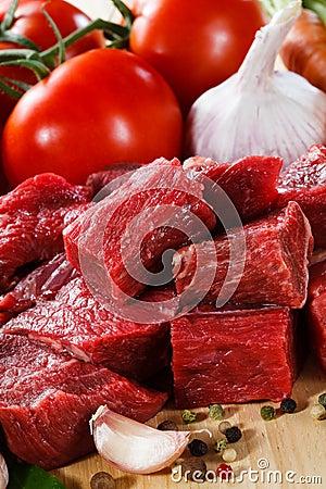 Fresh raw beef