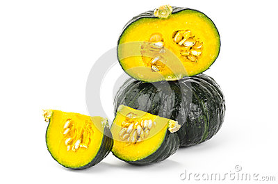 Fresh raw pumpkin