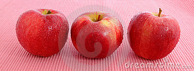 Fresh Red Apple with water drop