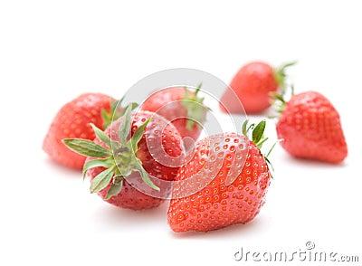 Fresh red ripe strawberries
