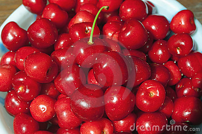 Fresh Red Sweet Cherries Stock Photo - Image: 9887430