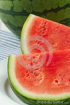 Fresh Red Watermelon Slices