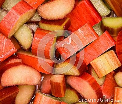 Fresh rhubarb