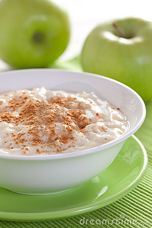 Fresh rice pudding