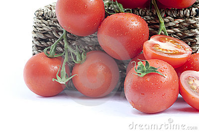 Fresh ripe vine tomatoes vegetables