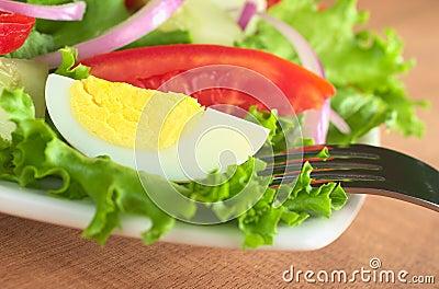 Fresh Salad with Boiled Egg