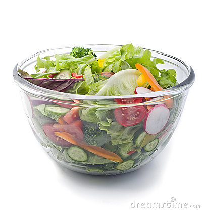 Free Fresh Salad Bowl Stock Photography - 7660962